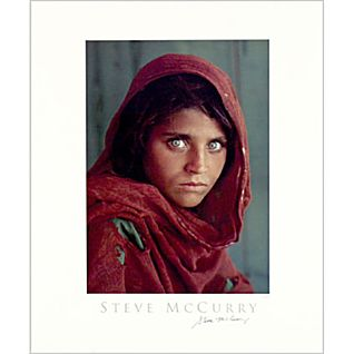 View Signed National Geographic Afghan Girl Poster image