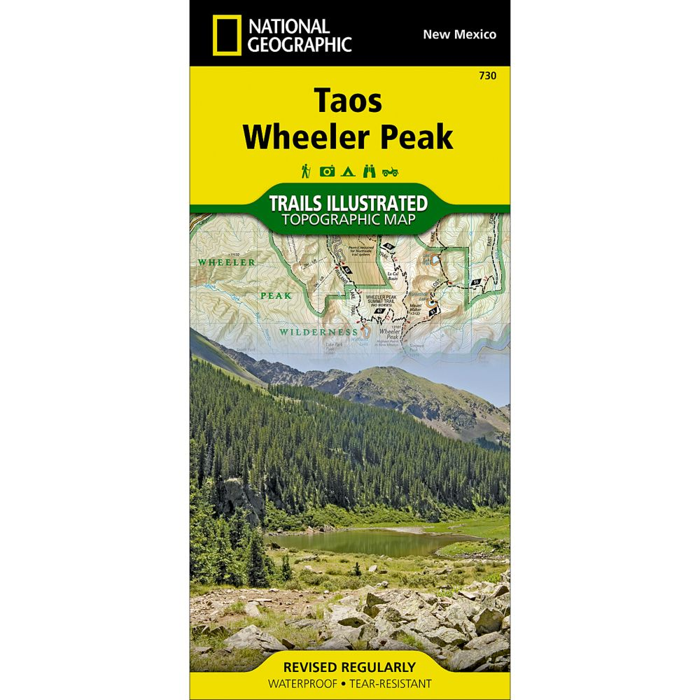 photo: National Geographic Taos Area - Carson National Forest Trail Map