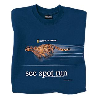 View See Spot Run Cheetah T-shirt - Adult Sizes image