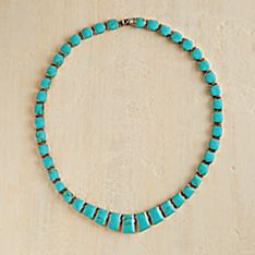 Hand-Crafted Chilean Turquoise Necklace