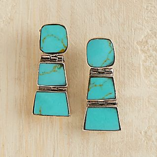 View Chilean Turquoise Earrings image