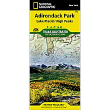 742 Lake Placid/High Peaks Trail Map, 2004