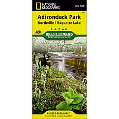 744 Northville, Raquette Lake: Adirondack Park Trail Map