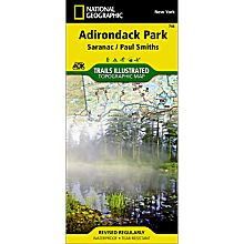 746 Saranac/Paul Smiths Trail Map, 2004