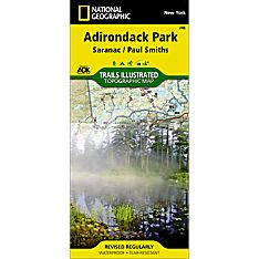 746 Saranac, Paul Smiths: Adirondack Park Trail Map