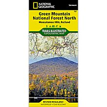 747 Green Mountain National Forest: Moosalamoo NRA - Rutland Trails Map, 2010