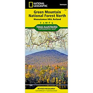 747 Green Mountain National Forest: Moosalamoo NRA - Rutland Trails Map