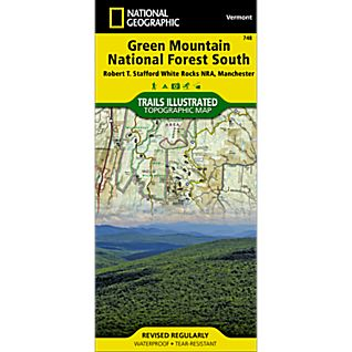 View 748 Green Mountain National Forest: White Rocks NRA - Manchester Trails Map image