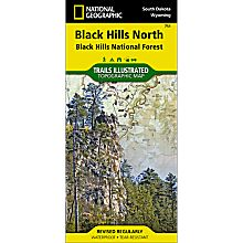 751 Black Hills National Forest - Northeast Trail Map, 2001