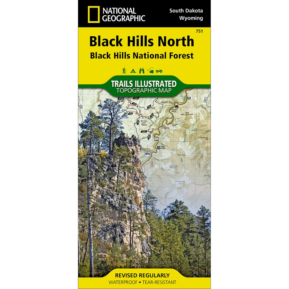 photo: National Geographic Black Hills Northeast Trail Map