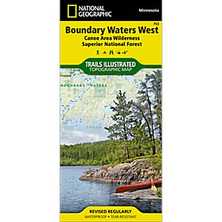 photo: National Geographic Boundary Waters West - Superior National Forest Map us midwest paper map