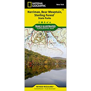 View 756 Harriman, Bear Mountain and Sterling Forest State Parks Trail Map image