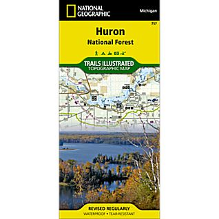 photo: National Geographic Huron National Forest Trail Map