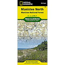 758 Manistee National Forest, North Trail Map