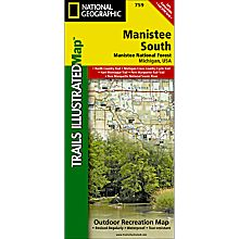 759 Manistee National Forest, South Trail Map