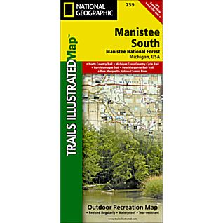 photo: National Geographic Manistee National Forest, South Trail Map