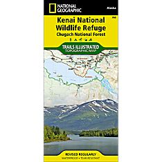 760 Kenai Nwr/Chugach National Forest Trail Map, 1996