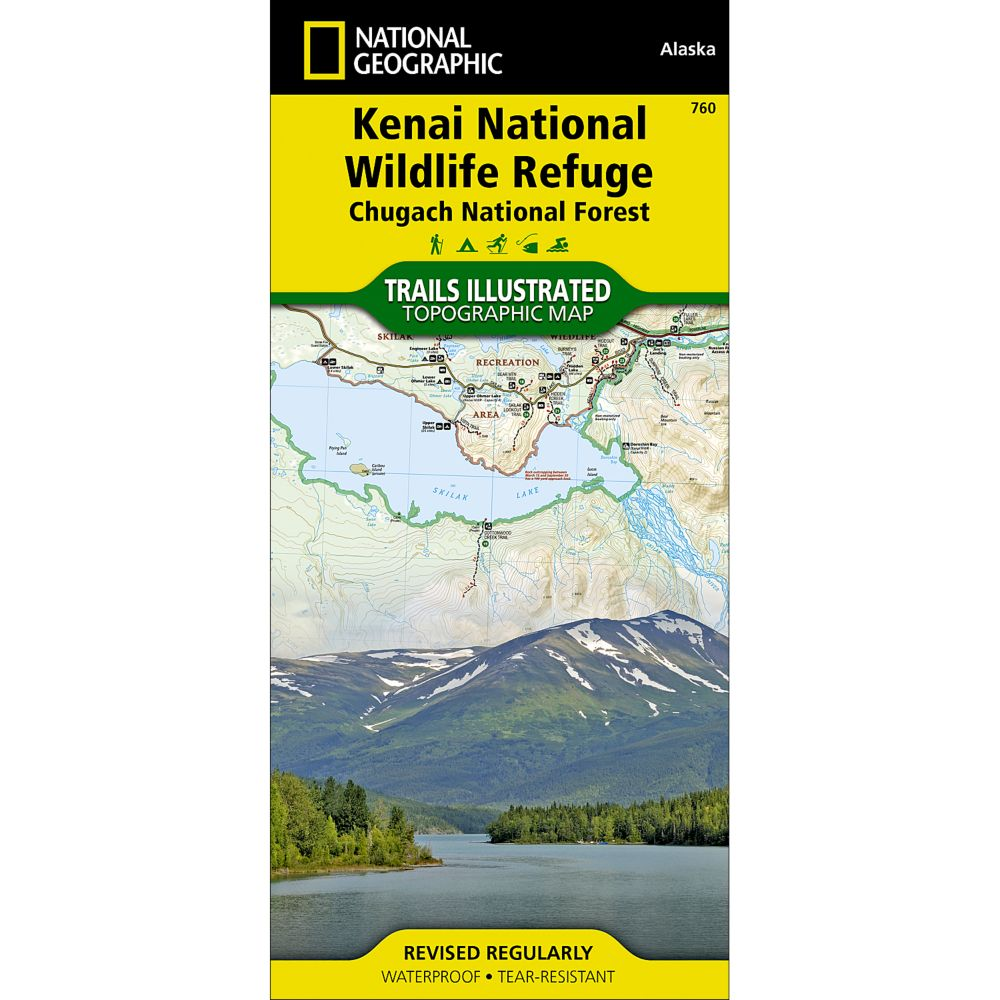 photo: National Geographic Kenai National Wildlife Refuge Map - Chugach National Forest