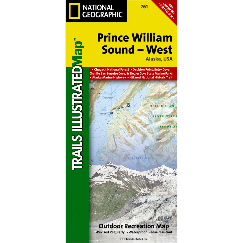 photo: National Geographic Prince William Sound - West Trail Map