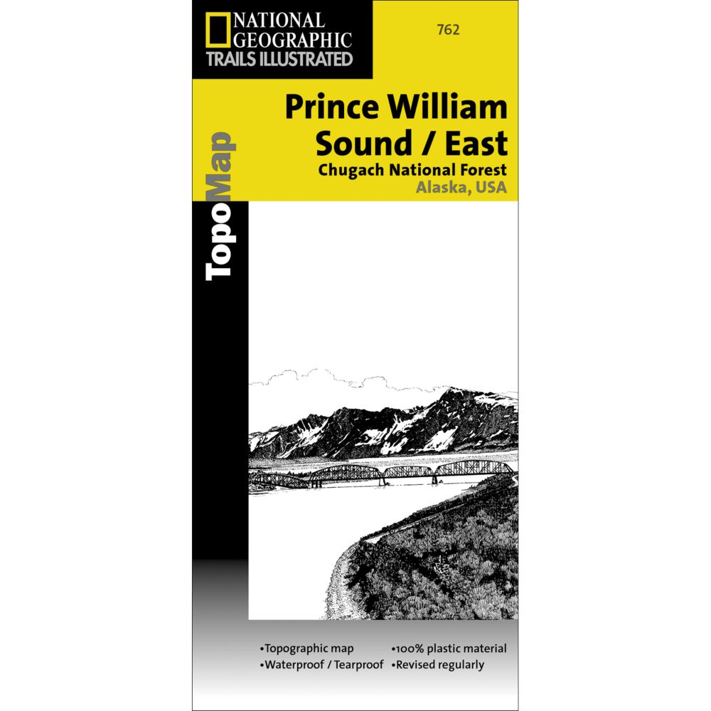 National Geographic Prince William Sound - East Trail Map