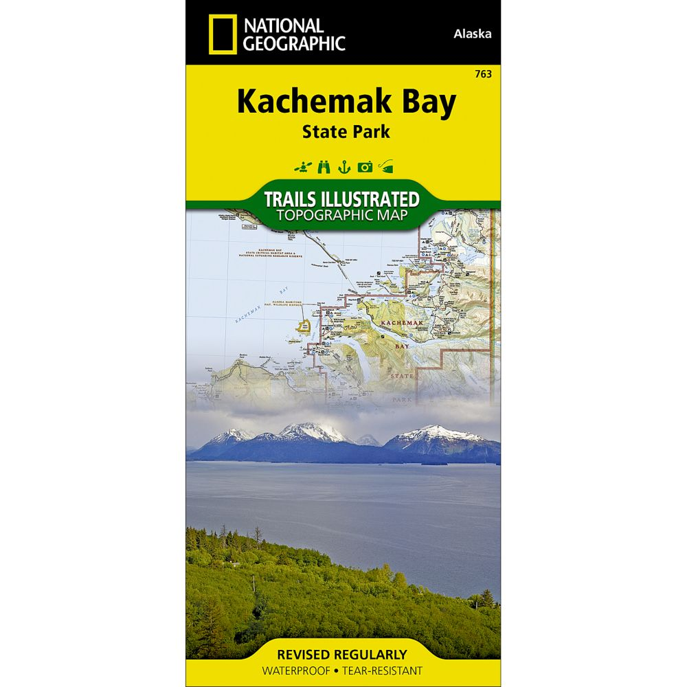 photo: National Geographic Kachemak Bay State Park Trail Map  us pacific states paper map