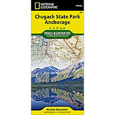 764 Chugach State Park, Anchorage Trail Map, 2014