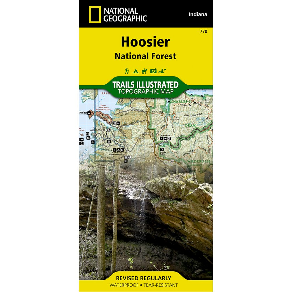 photo: National Geographic Hoosier National Forest Trail Map