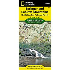 777 Springer and Cohutta Mountains Trail Map
