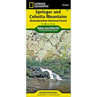 777 Springer and Cohutta Mountains (Chattahoochee National Forest) Trail Map