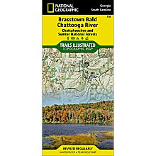 778 Brasstown Bald and Chattooga River Trail Hiking Map