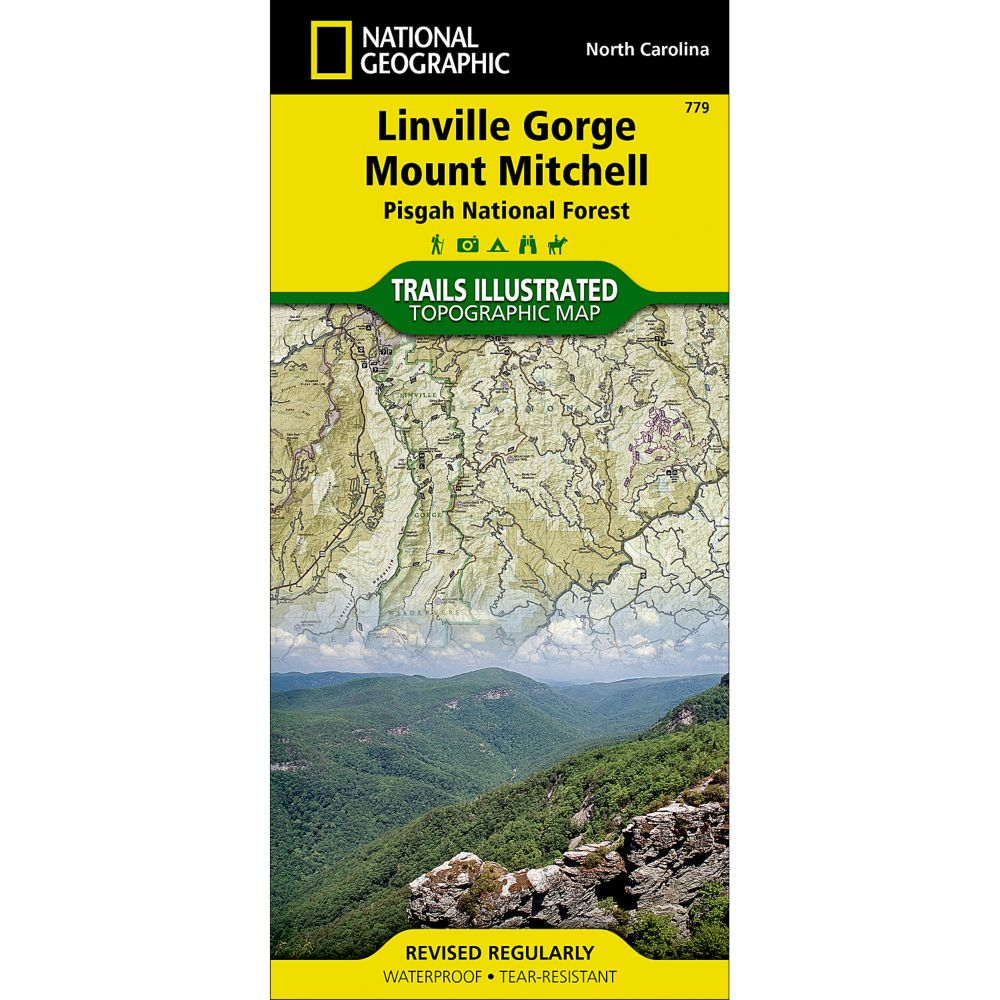 photo: National Geographic Linville Gorge/Mount Mitchell Map - Pisgah National Forest