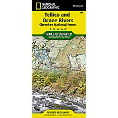 781 Tellico and Ocoee Rivers Trail Hiking Map