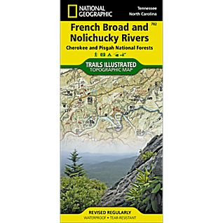 782 French Broad & Nolichucky Rivers Trail Map