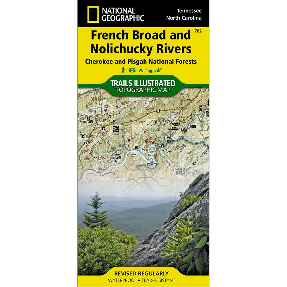 photo: National Geographic French Broad/Nolichucky Rivers Map - Cherokee and Pisgah National Forests