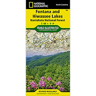 784 Fontana and Hiwassee Lakes (Nantahala National Forest) Trail Map
