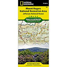 786 Mount Rogers National Recreation Area (Jefferson National Forest) Trail Map
