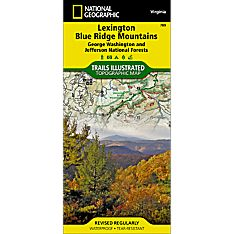 789 Lexington/Blue Ridge Mountains Trail Hiking Map