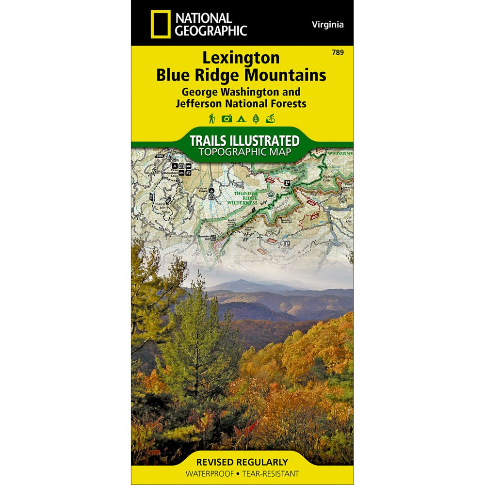 photo: National Geographic Lexington/Blue Ridge Mountains Map  us south paper map