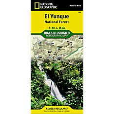 790 Caribbean National Forest Trail Hiking Map