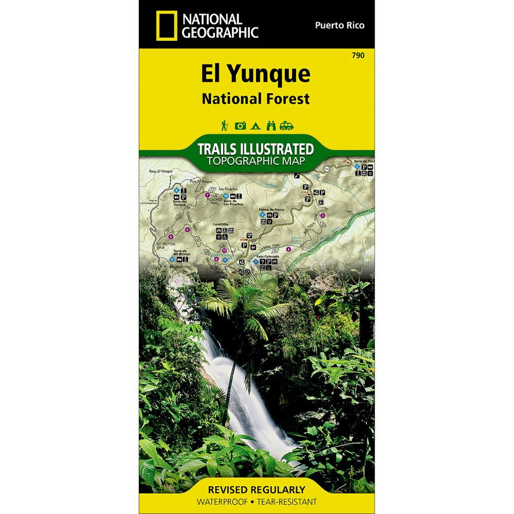 photo: National Geographic Caribbean National Forest Map