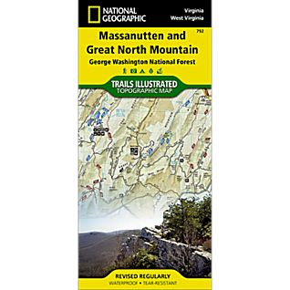 photo: National Geographic Massanutten and Great North Mountain Map us south paper map