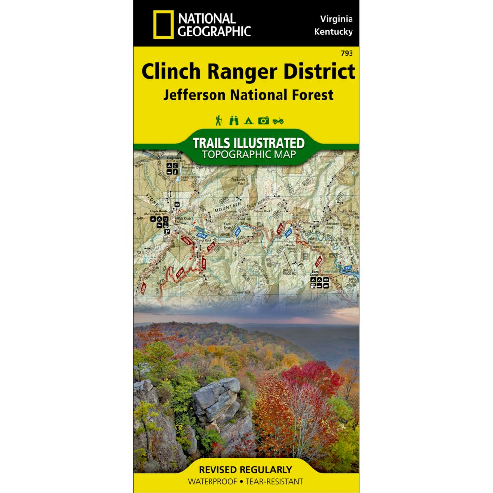 photo: National Geographic Clinch Ranger District Map us south paper map