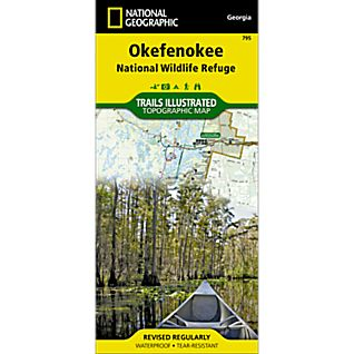 View 795 Okefenokee National Wildlife Refuge Trail Map image