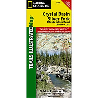 National Geographic El Dorado National Forest - Crystal Basin and Silver Fork Map