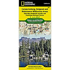 807 Carson-Iceberg/Emigrant & Mokelumne Wilderness Areas Trail Map