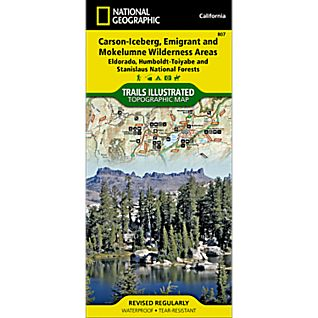 photo: National Geographic Carson-Iceberg/Emigrant & Mokelumne Wilderness Areas Map us pacific states paper map