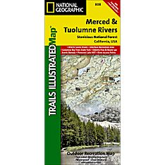 808 Merced and Tuolumne Rivers / Stanislaus National Forest Trail Hiking Map