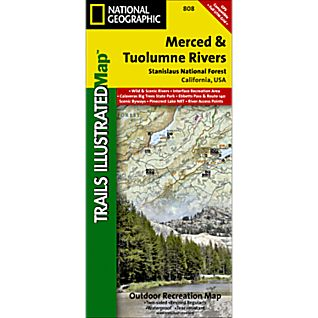 View 808 Merced and Tuolumne Rivers / Stanislaus National Forest Trail Map image