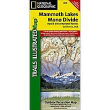 809 Mammoth Lakes and Mono Divide Trail Map