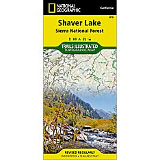 810 Shaver Lake (Sierra National Forest) Trail Map